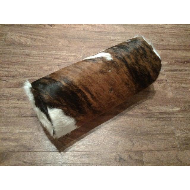 Gambrell Renard Cowhide Bolster Pillow - Image 3 of 4
