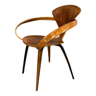 "Norman Cherner Mid-Century Modern ""Pretzel"" Armchair for Plycraft Co. For Sale"