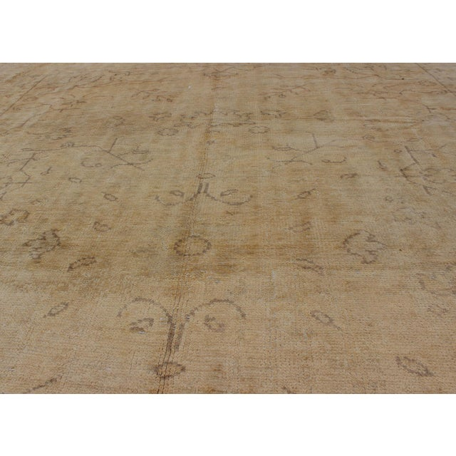Textile Early 20th Century Antique Turkish Oushak Rug - 9′5″ × 12′10″ For Sale - Image 7 of 9