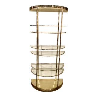 Caracole Modern Mixed Metal and Glass Up Up and Away Etagere For Sale