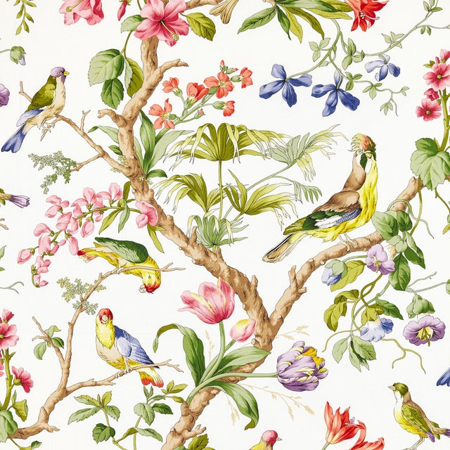 From the Scalamandre Botanica Collection, Printed fabrics.