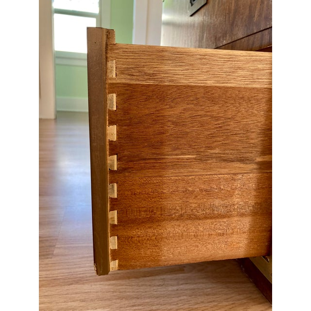 Late 20th Century Dixie Campaign Nightstand For Sale - Image 10 of 12