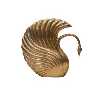 1980s Vintage Dolbi Cashier Brass Swan Figurine For Sale