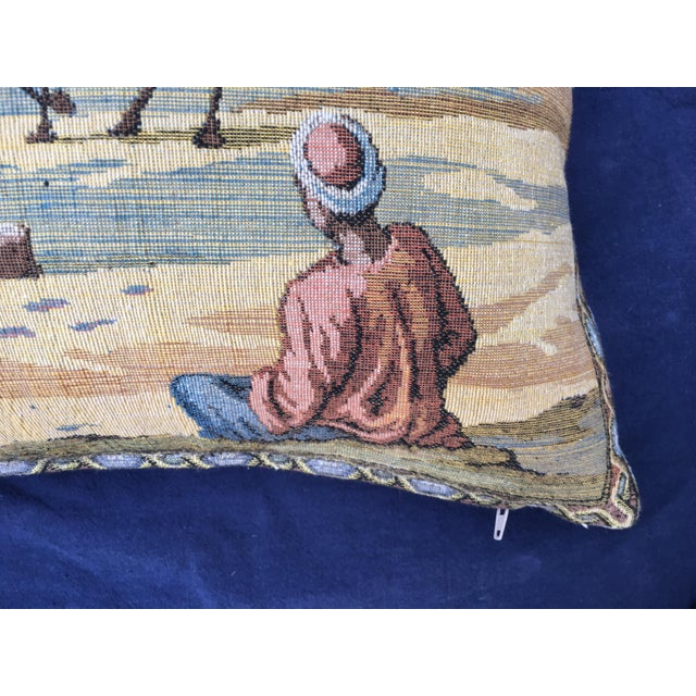 Egyptian Tapestry Pillow For Sale - Image 5 of 7