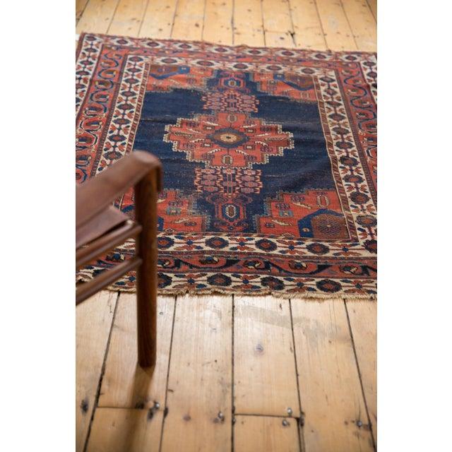 """Antique Fine Afshar Rug - 4'3"""" x 5'2"""" For Sale - Image 11 of 13"""