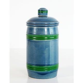 Italian Baldelli Mid Century Modern Blue & Green Art Pottery Humidor Preview