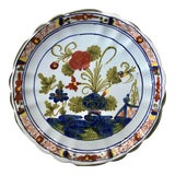 """Image of Italian Hand Painted Faience """"Blue Carnation"""" Ceramic Dish For Sale"""