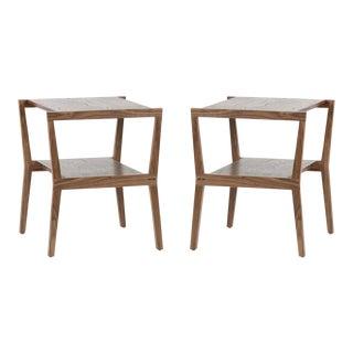Leimert Walnut End Tables - A Pair For Sale