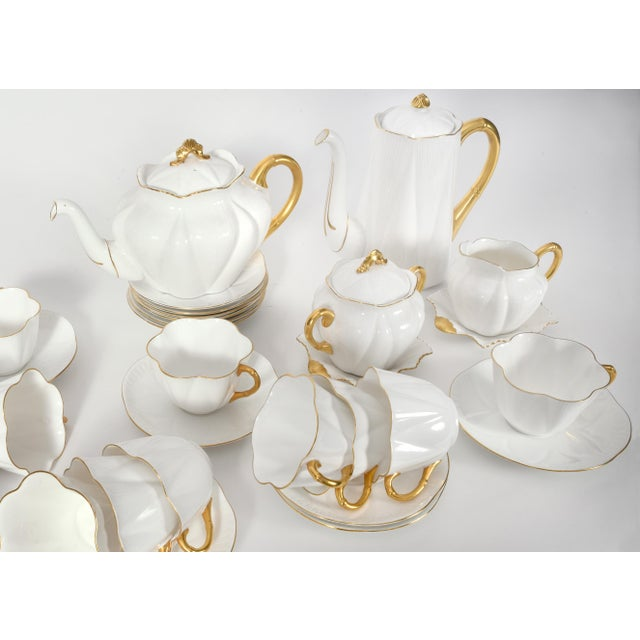 Vintage English Porcelain Tea / Coffee Service Service for 12 People - 36 Pc. Set For Sale In New York - Image 6 of 13