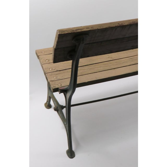 Black Cast Iron and Wood Park Bench For Sale - Image 8 of 9