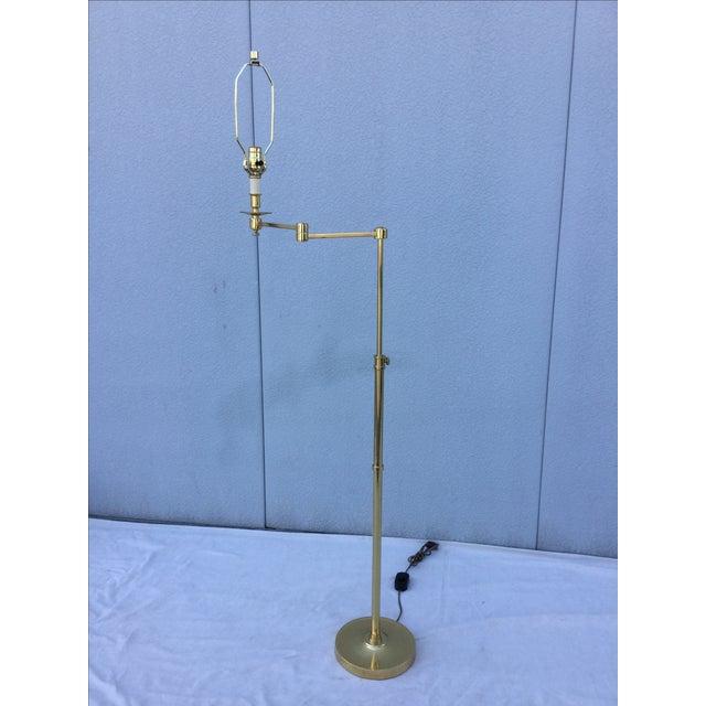 Vintage 1970s English Modern Brass Floor Lamp - Image 9 of 11