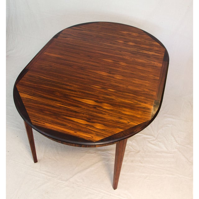 Danish Round Rosewood Dining Table by Moller - Image 5 of 7