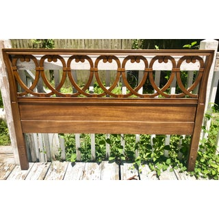 Art Deco Carved Wooden Full Size Headboard Preview