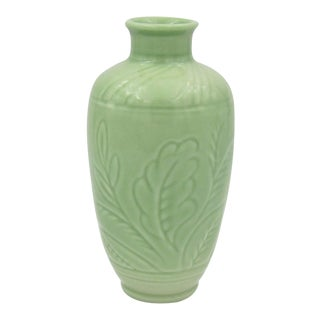 Vintage Rookwood Pottery Vase With Glossy Green Glaze For Sale