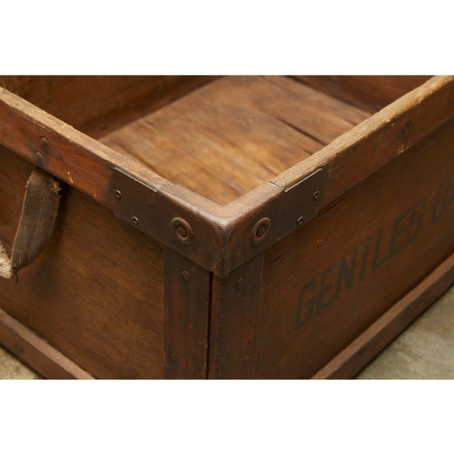 Gentles Baking CO. Wooden Delivery Box For Sale - Image 4 of 8