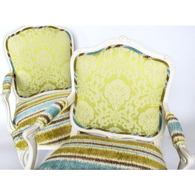 19th French Bergere Chairs - Pair - Image 5 of 6