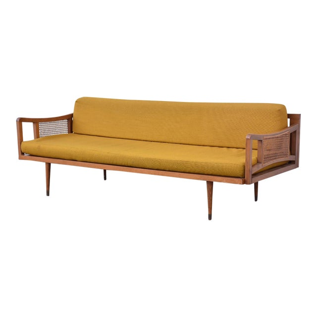 Danish Style Yellow Daybed - Image 1 of 10
