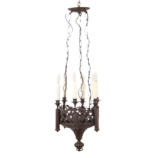 Mid 19th Century Gothic Revival Chandelier For Sale