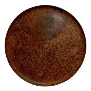 Vintage 1930s Large Burl Wood Tray For Sale