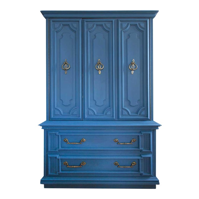 Vintage Blue Lucille Armoire - Image 1 of 7