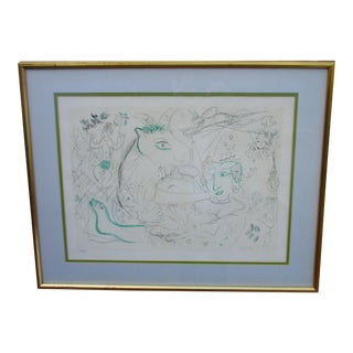 Marc Chagall Green Horse Lithograph