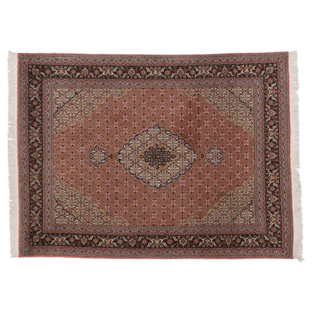 Vintage Persian Tabriz Rug with Mahi Design and Traditional Style For Sale - Image 4 of 5