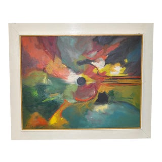 Mid Century Modern Abstract by Montegon C.1970s For Sale