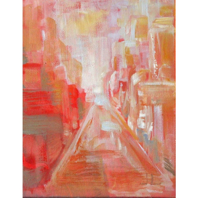 Warm City Sun Acrylic Painting - Image 1 of 2