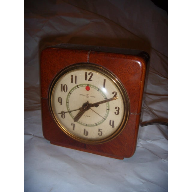 Art Deco Style General Electric Wood Alarm Clock - Image 7 of 9