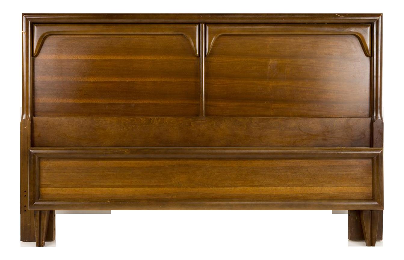 bassett furniture logo. Exellent Bassett 20th Century Bassett Furniture Wood Queen Or Full Size Headboard And  Footboard Inside Logo