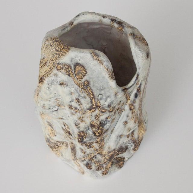 Marcello Fantoni Brutalist Ceramic Vase - Image 3 of 10