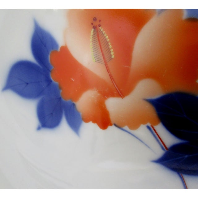 Late 20th Century Vintage Japanese Porcelain Plates- Set of 4 For Sale - Image 4 of 7