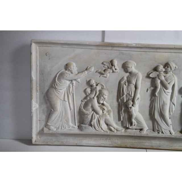 Neoclassical Neoclassical Plaster Relief Cherub Wall Art For Sale - Image 3 of 11
