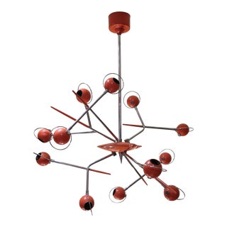 A Lacquered Metal Ceiling Lamp by Oscar Torlasco, Italy 70'