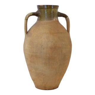 Vintage Mediterranean Terra Cotta Olive Jar For Sale