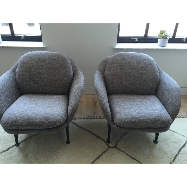 Cassina 399 VICO Gray Armchairs - A Pair - Image 3 of 6