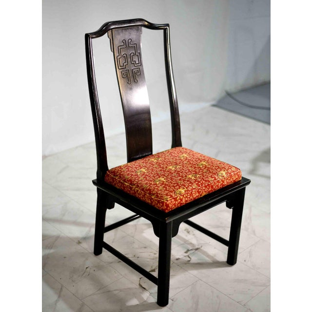 Mid-Century Modern 1970s Chinoiserie Raymond Sobota Asian Dining Chairs by Century - Set of 8 For Sale - Image 3 of 12