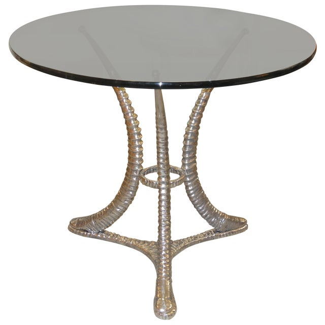"Arthur Court ""Tusk"" Aluminum Dining Table - Image 1 of 6"