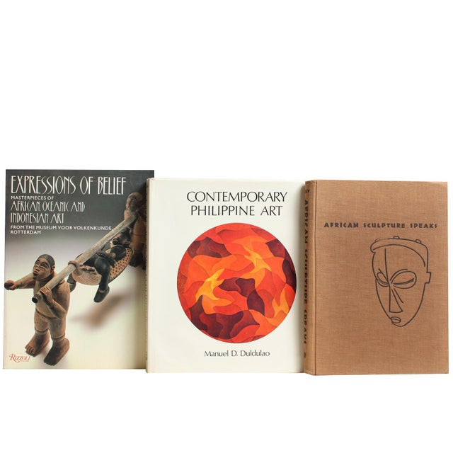 Primitive & Island Book Art Stack - Set of 5 - Image 2 of 2