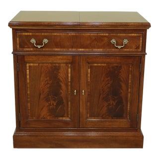Stickley Flip Top Mahogany Server Cart Cabinet For Sale