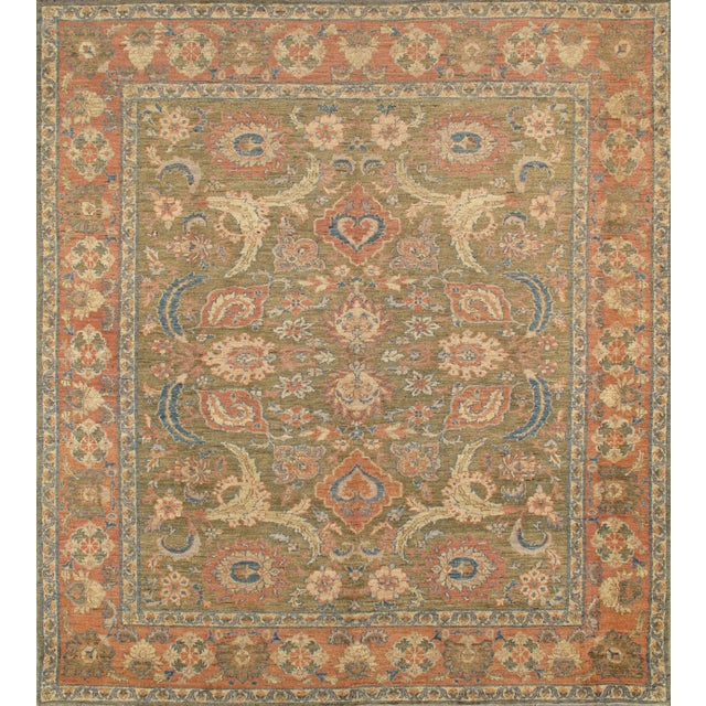Pasargad Sultanabad Collection Rug - 8′11″ × 9′10″ For Sale