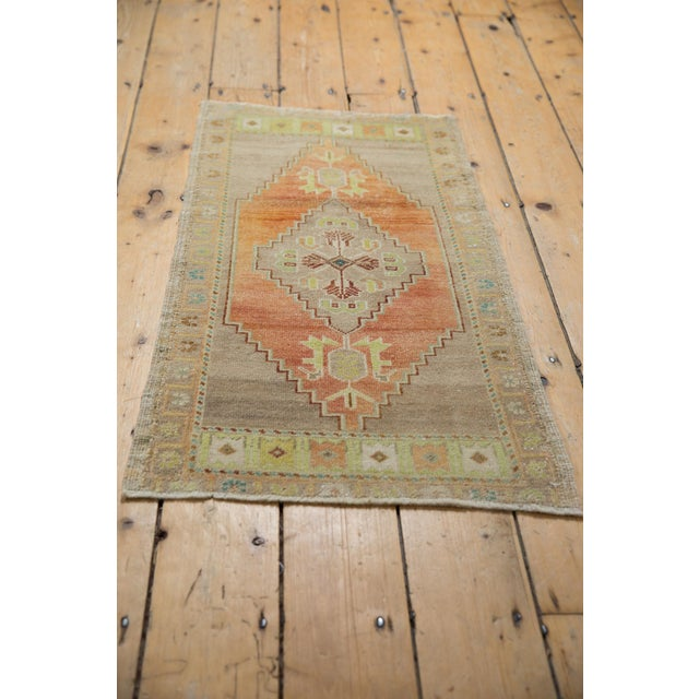 """Vintage Distressed Oushak Rug - 1'10"""" X 3'4"""" For Sale In New York - Image 6 of 7"""