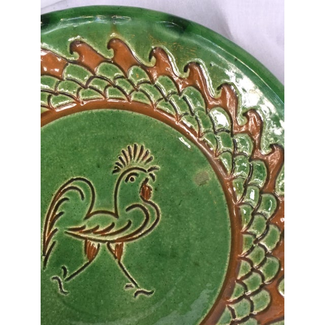 Spanish Decorative Hanging Plate Paco Tito of Ubeda, Spain, Rooster For Sale - Image 10 of 12