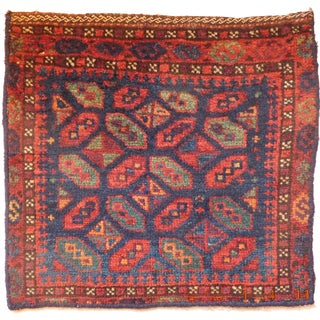 Traditional Antique Nomadic Baluchi Bag For Sale