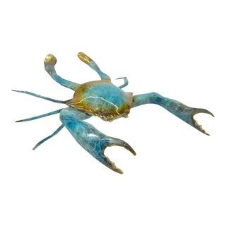 Austria Green Painted Vienna Bronze Crab Sculpture