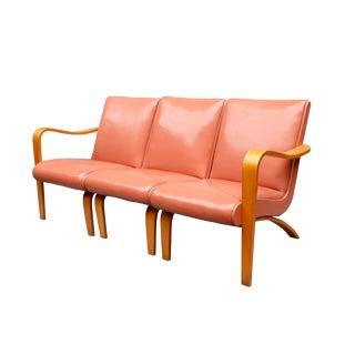 "Mid Century ""Thonet"" Three Seat Sofa For Sale"