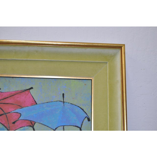 Mid-Century Modern Oil Painting by G. Richardson C.1959 For Sale In San Francisco - Image 6 of 8