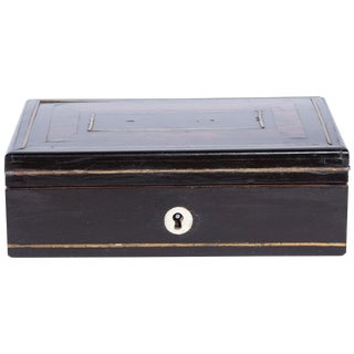 Tortoiseshell and Lacquer Box, England, Circa 1900 For Sale