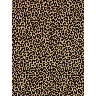Sample, Scalamandre Panthera Velvet, Ebony Fabric For Sale