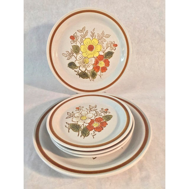 1970s 70's Stone Creek Stoneware Dinner and Bread Plates - Set of 6 For Sale - Image 4 of 4